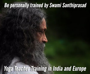 Swami Santhiprasad, spiritual leader, Yoga Master and Yoga Guru - School of Santhi Yoga Teacher Training School India, Kerala