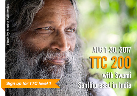 Yoga Teacher Training TTC 200 AUG 2016 | with Swami Santhiprasad School of Santhi Yoga Teacher Training School in India and Europe